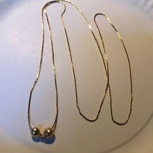 Vintage gold balls necklace